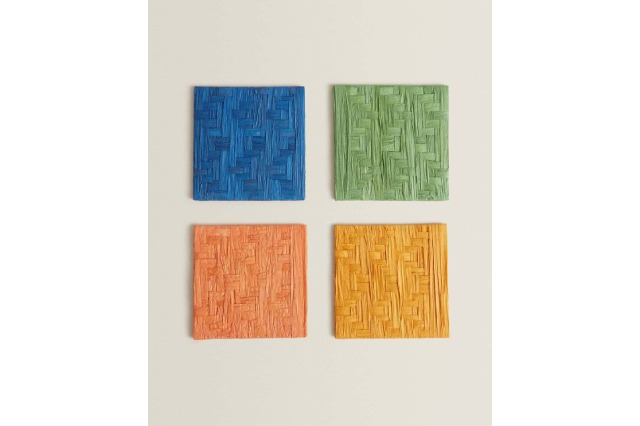 WOVEN RAFFIA COASTER (PACK OF 4)