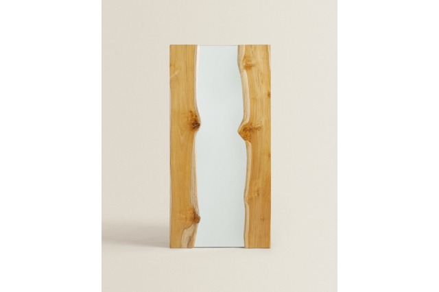 NATURAL WOODEN MIRROR
