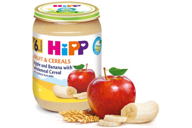 Hipp Apple and Banana with wholemenl cereal