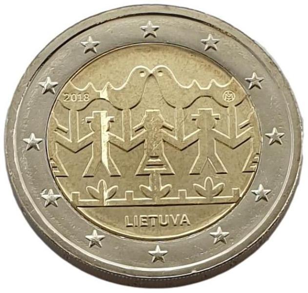 Lithuania - 2 Euro 2018 A, UNC