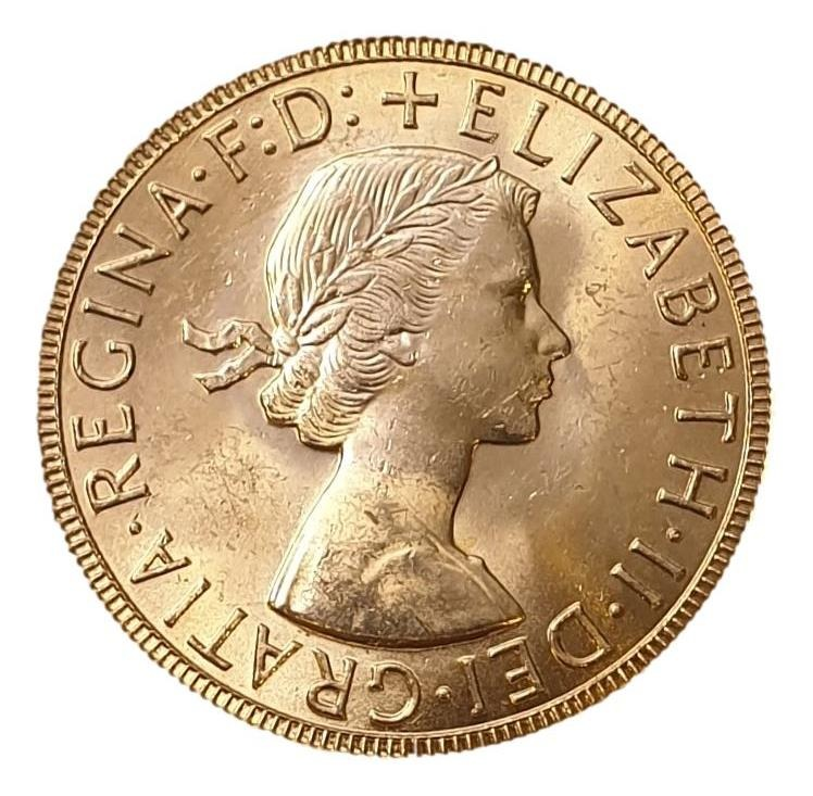 England - 1 Sovereign - Elizabeth II (1st portrait) 1957-1968 (UNC) Random Years