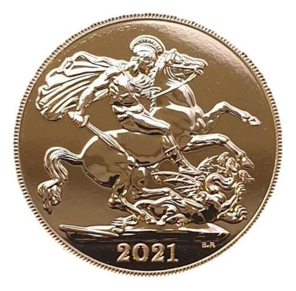 England - Sovereign 2021, Elizabeth, UNC