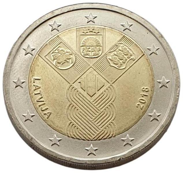 Latvia - 2 Euro 2018 A, UNC