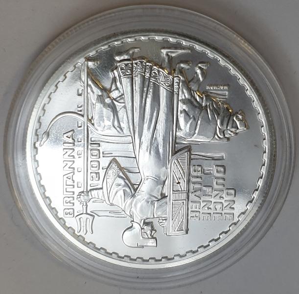 England - 1 OZ 2001 - Britannia, Silver 999*