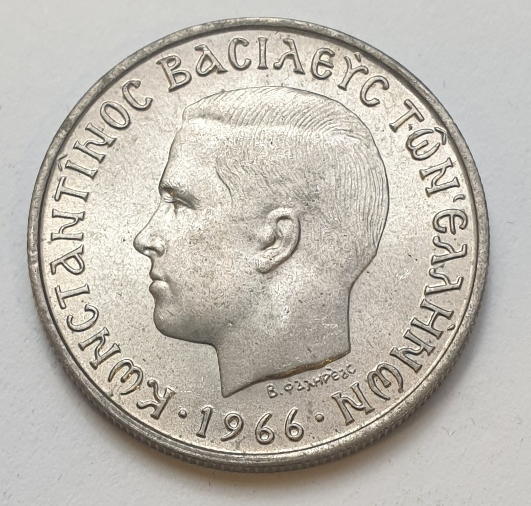 Greece - 2 Drachmas 1966 , UNC