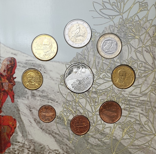 Coins Set - Olympus National Park 2005 + Silver Coins