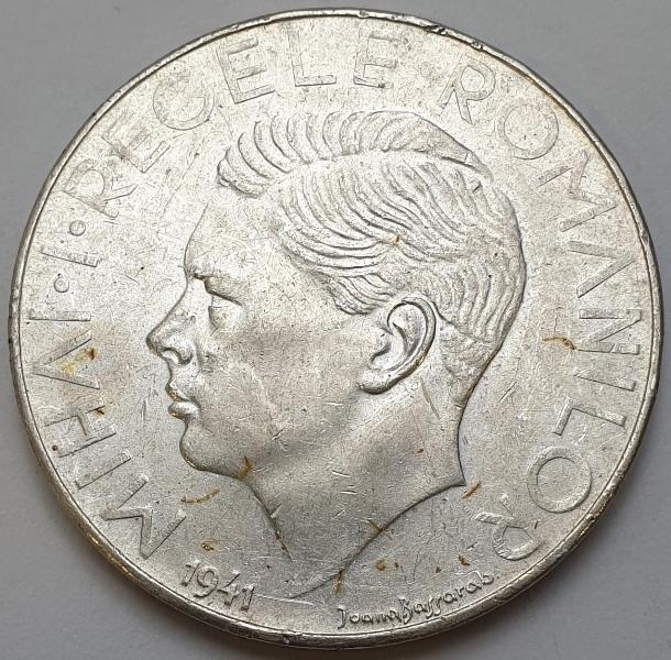 Romania - 500 Lei 1941, Silver