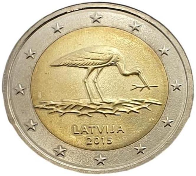 Latvia - 2 Euro 2015 B, UNC