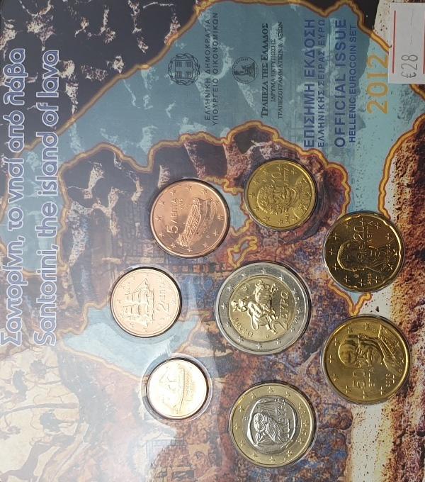 Coins Set - Santorini the island of lava 2012