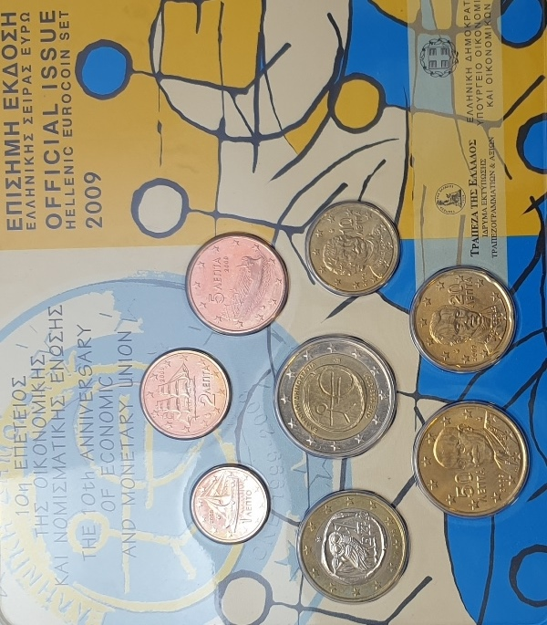 Coins Set - The 10th Anniversary of economic and monetary union 2009