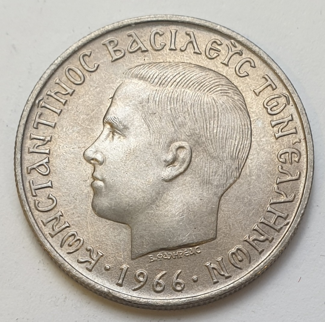 Greece - 5 Drachmas 1966, UNC