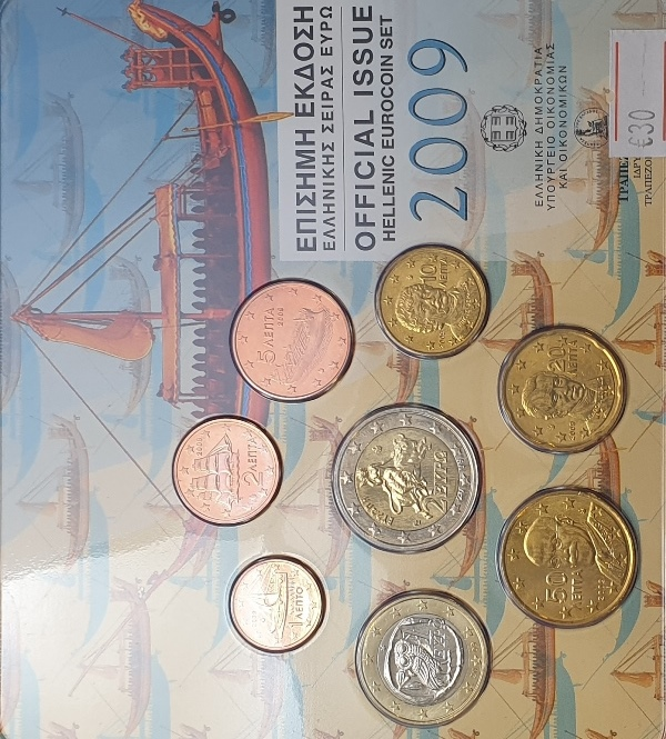 Coins Set - Official Issue Hellenic Eurocoin 2009