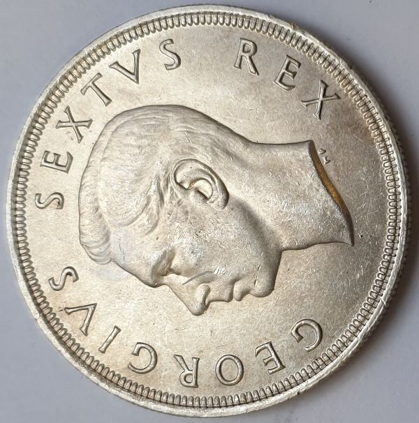 South Africa - 5 Shillings 1951, Silver