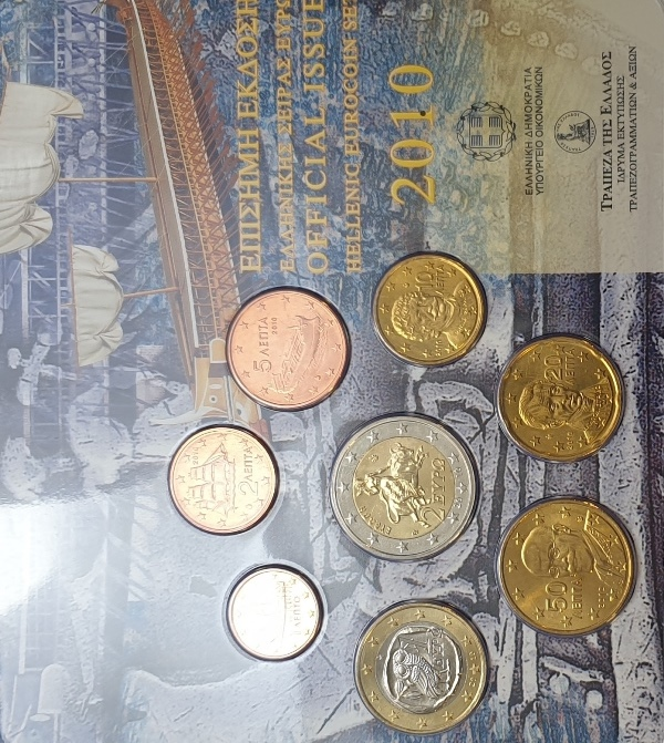 Coins Set - Official Issue Hellenic Eurocoin 2010