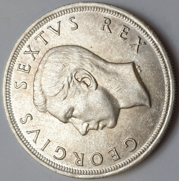 South Africa - 5 Shillings 1952, Silver