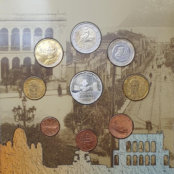 Coins Set - Patras 2006 + Silver Coins