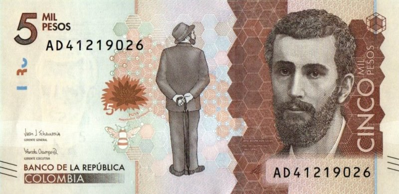 Bank Of Colombia - 5000 Pesos 2017, UNC