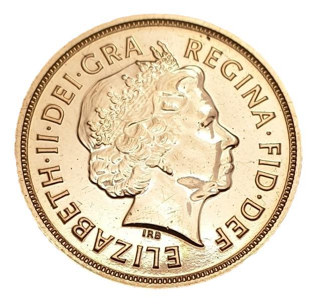England - 1 Sovereign 2015, Elizabeth