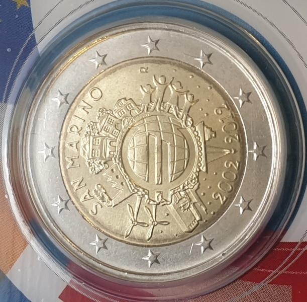 San Marino - 2 Euro 2012, Commemorativi, (Coin Card)