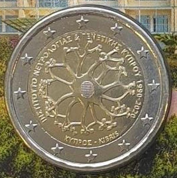 Cyprus - 2 Euro 2020 UNC BU (Coin Card)