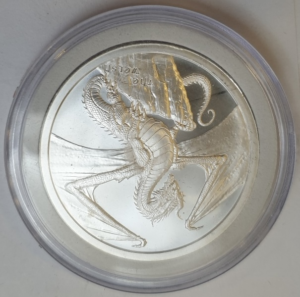 USA - 1 OZ 2019 - World of Dragons - The Welsh, Silver 999*