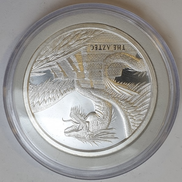 USA - 1 OZ 2018 - World of Dragons - The Aztec, Silver 999*