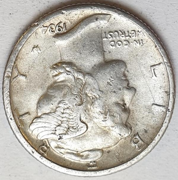 USA - 1 Dime 1934, Silver