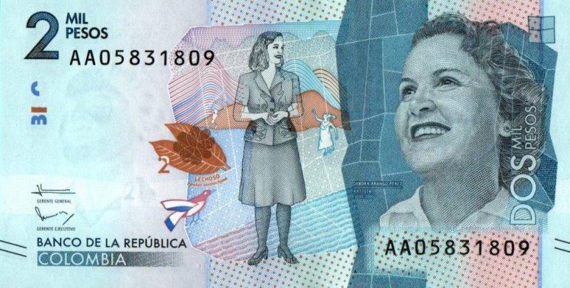Bank Of Colombia - 2000 Pesos 2015, UNC
