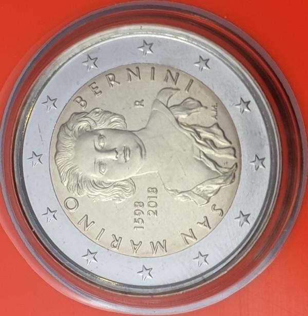 San Marino - 2 Euro 2018, Gian Lorenzo Bernini, (Coin Card)
