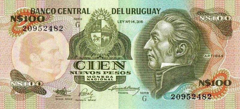 Bank Of Uruguay - 100 Pesos 1987, UNC