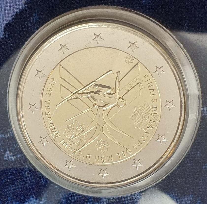 Andora - 2 Euro 2019, Final of the Alpine Skiing World cum (Coin Card)