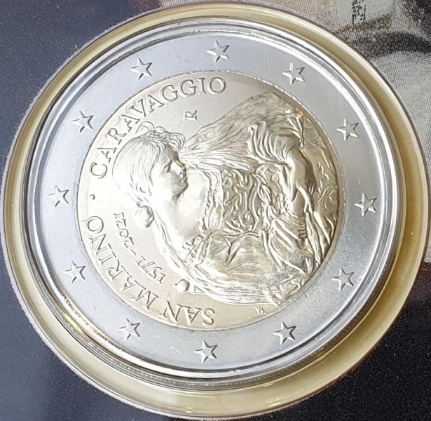 San Marino - 2 Euro 2021, Caravaggio, (Coin Card)