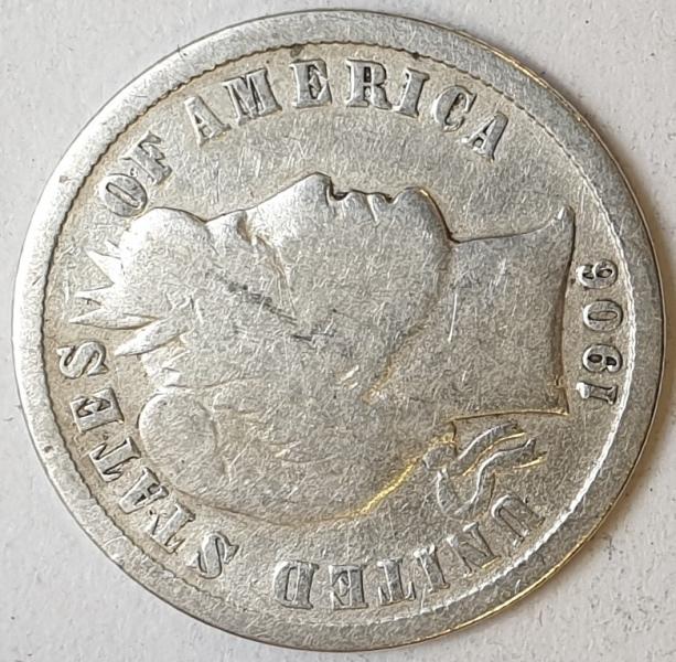 USA - 1 Dime (D) 1906, Silver