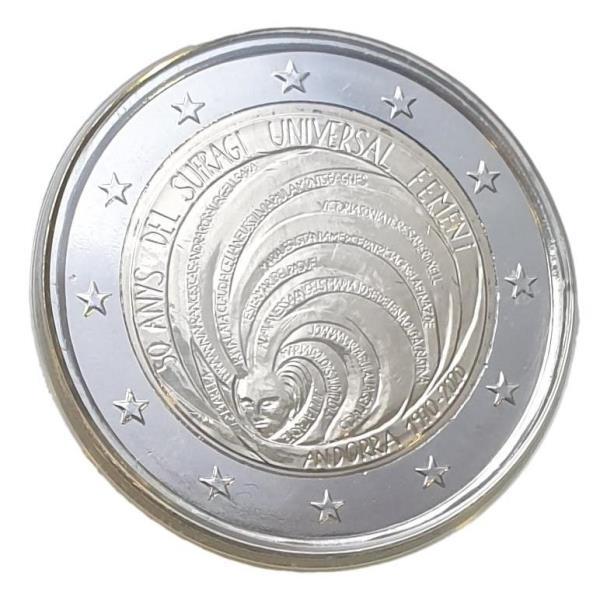 Andora - 2 Euro 2020, ''FEMENI'', UNC BU (Coin Card)