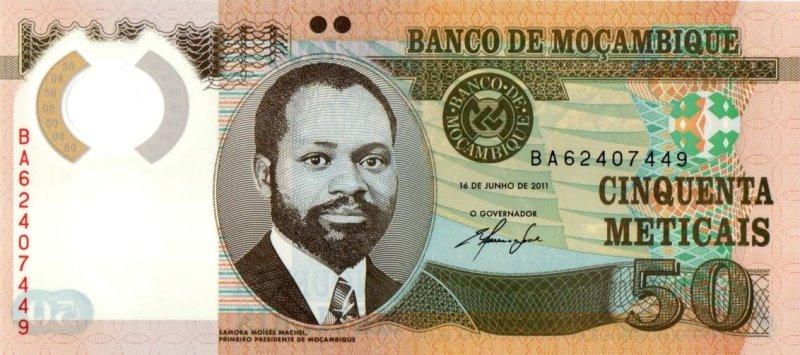 Bank Of Mocambique - 50 Meticals 2011, UNC