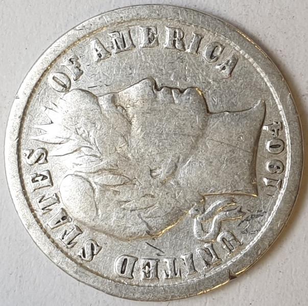 USA - 1 Dime 1904, Silver