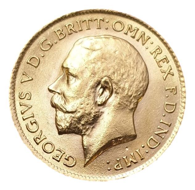 England - 1/2 Sovereign 1915, George V, UNC