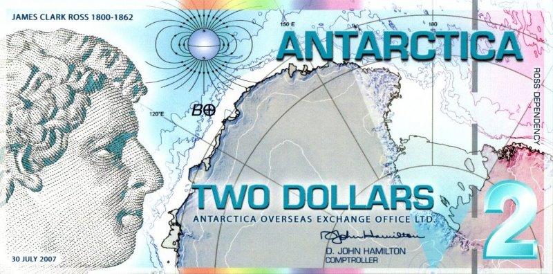 Bank Of Antarctica - 2 Dollars 2007, UNC