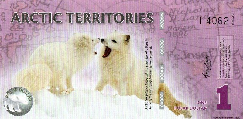 Bank Of Arctic Territories - 1 Polar Dollar 2012, UNC