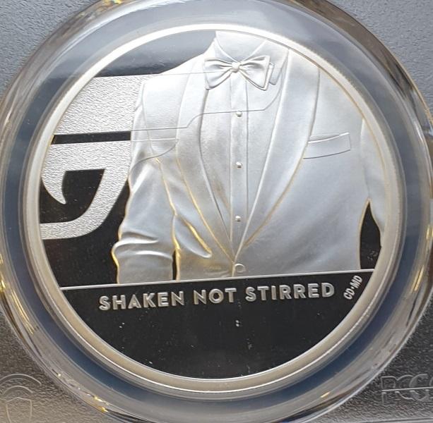 England - 1 OZ  2020 - Shaken Not Stirred 007 (PR 70 DCAM), Silver 999*