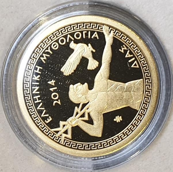 Greece - 100 Euro 2014, Zeus, Gold PROOF