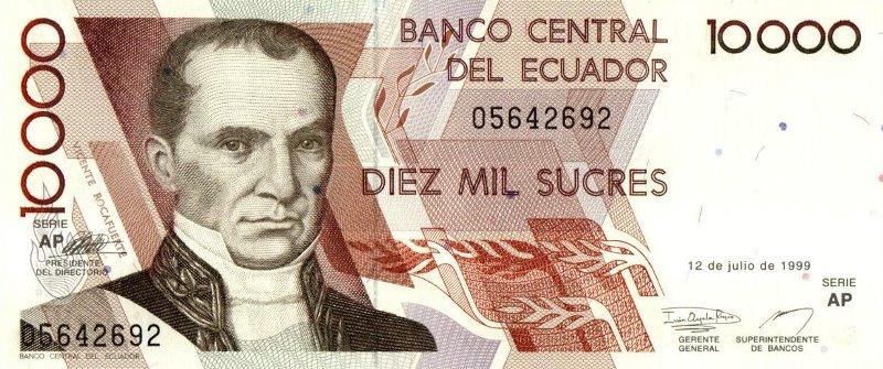 Bank Of Ecuador - 10.000 Sucres 1999, UNC