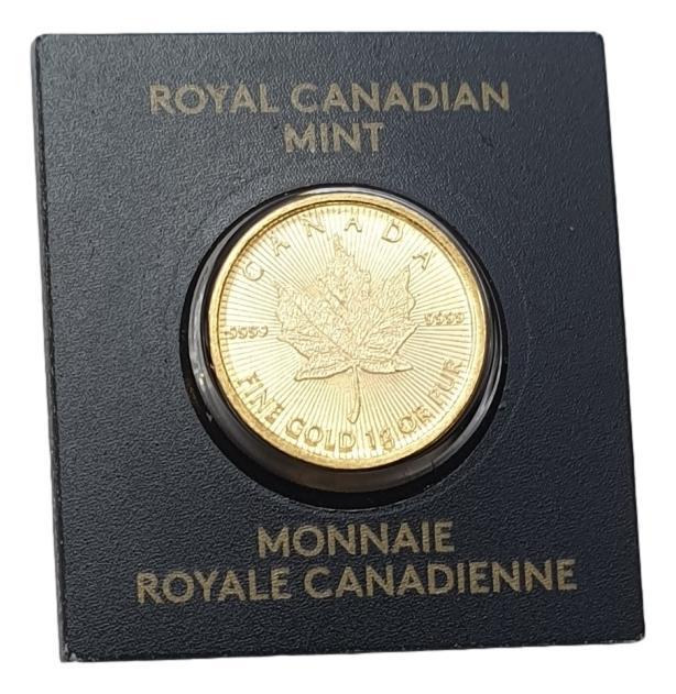 1 Gram Fine Gold 999, Canada 2018