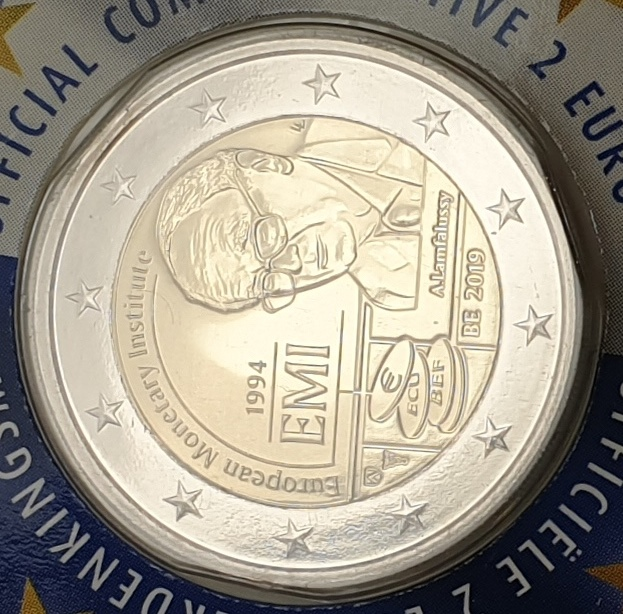 Belgium - 2 Euro 2019, European Monetary Institute, (Coin Card)