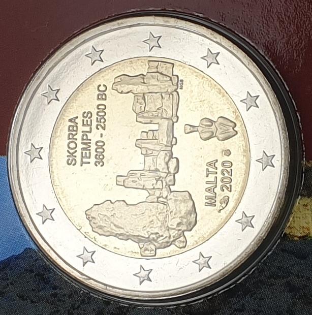 Malta - 2 Euro 2020, Skorba Temples, (Coin Card)