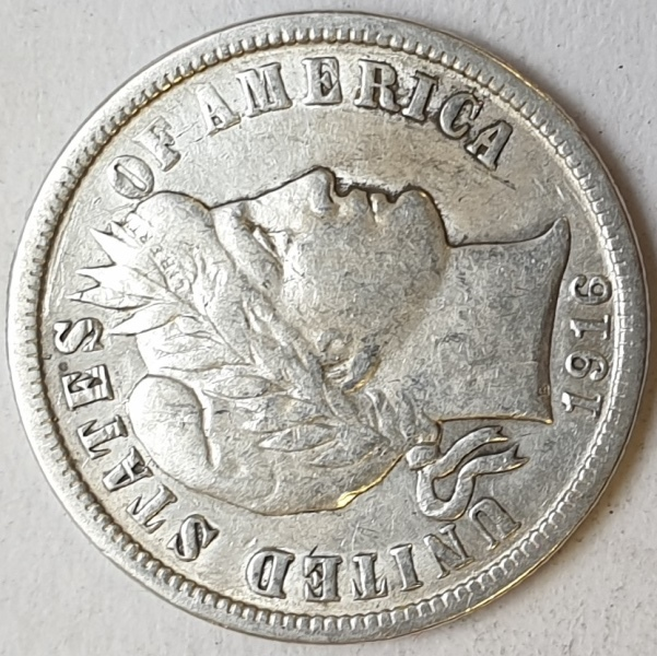USA - 1 Dime 1916, Silver