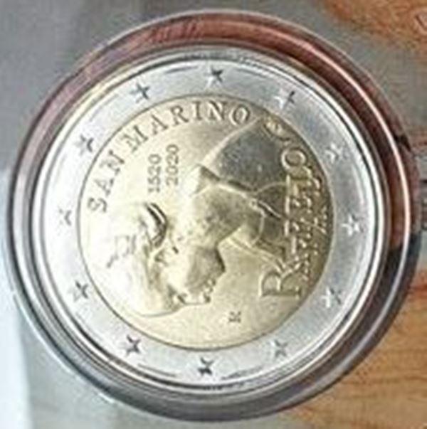 San Marino - 2 Euro 2020, Raffaello, (Coin Card)
