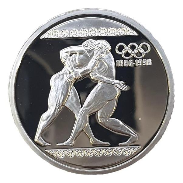 Greece - 1000 drachmas 1996, Olympics games, Silver - Proof