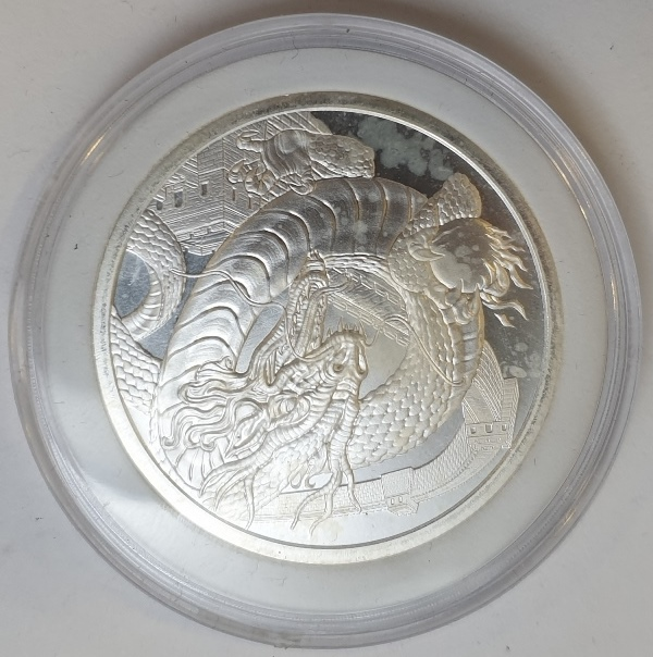USA - 1 OZ 2019 - World of Dragons - The Chinese, Silver 999*