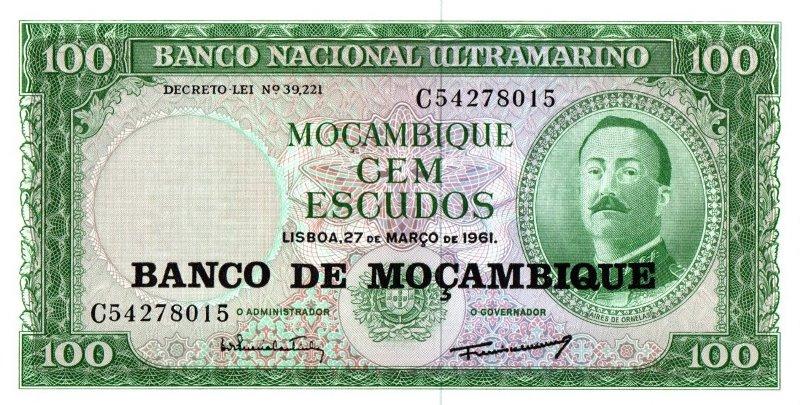 Bank Of Mocambique - 100 Escudos 1961, UNC